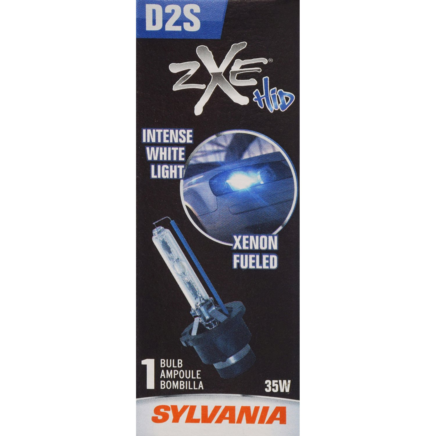 SYLVANIA - D2S SilverStar zXe HID (High Intensity Discharge) Headlight Bulb - High Performance Brighter and Whiter Light, Xenon Fueled, with a HID Attitude ...