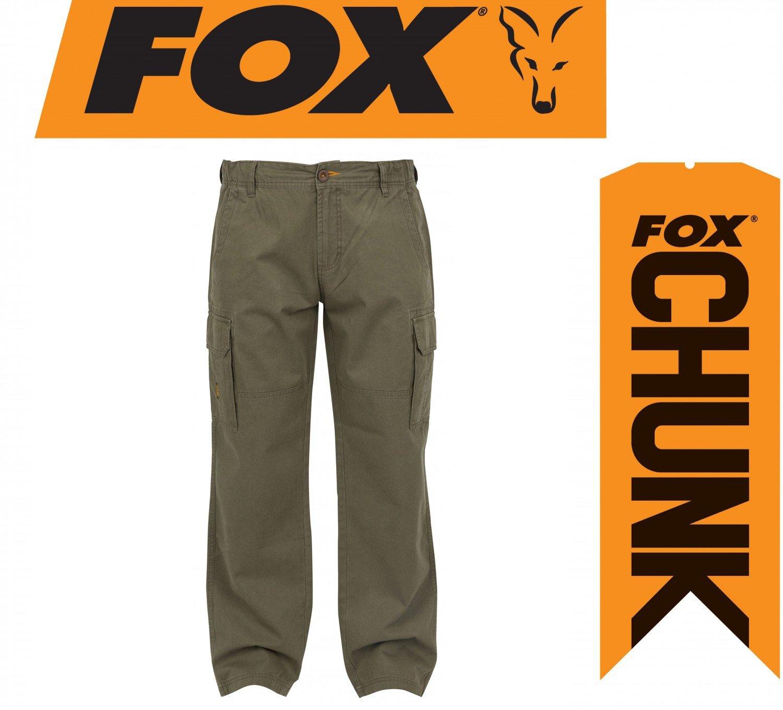 Fox Chunk Heavy Twill Cargo Pants Hose Angelhose Khaki, Anglerhose, Outdoorhose, Braun