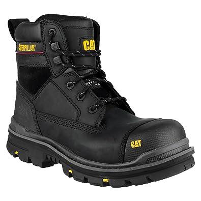 843789c0499 Mens CAT Caterpillar Gravel Steel Toe Cap Safety Work Boots BLACK SIZE 6