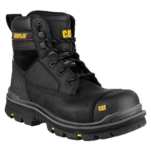 Botas de seguridad para hombre Caterpillar Gravel (15 cm), color negro, color