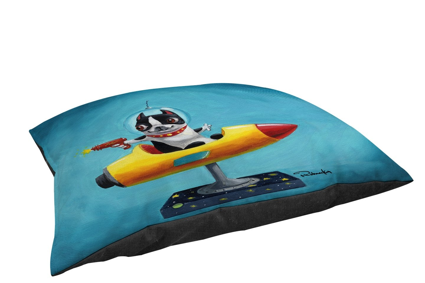 Manual Woodworkers & Weavers Fleece Top Toy or Small Breed Pet Bed, BT Rocket Blue, Multi Colored