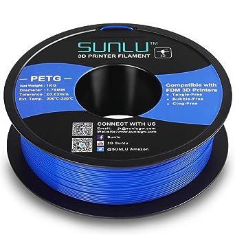 SUNLU Filamento PETG de 1.75mm con Carrete Sunlu Upgrade de 1kg ...
