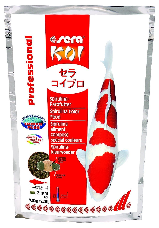 Sera - Koi Professional - Nourriture spécial couleurs pour poissons - Carpes koï - À base de spiruline - 1 x 1 kg Bosch 7032