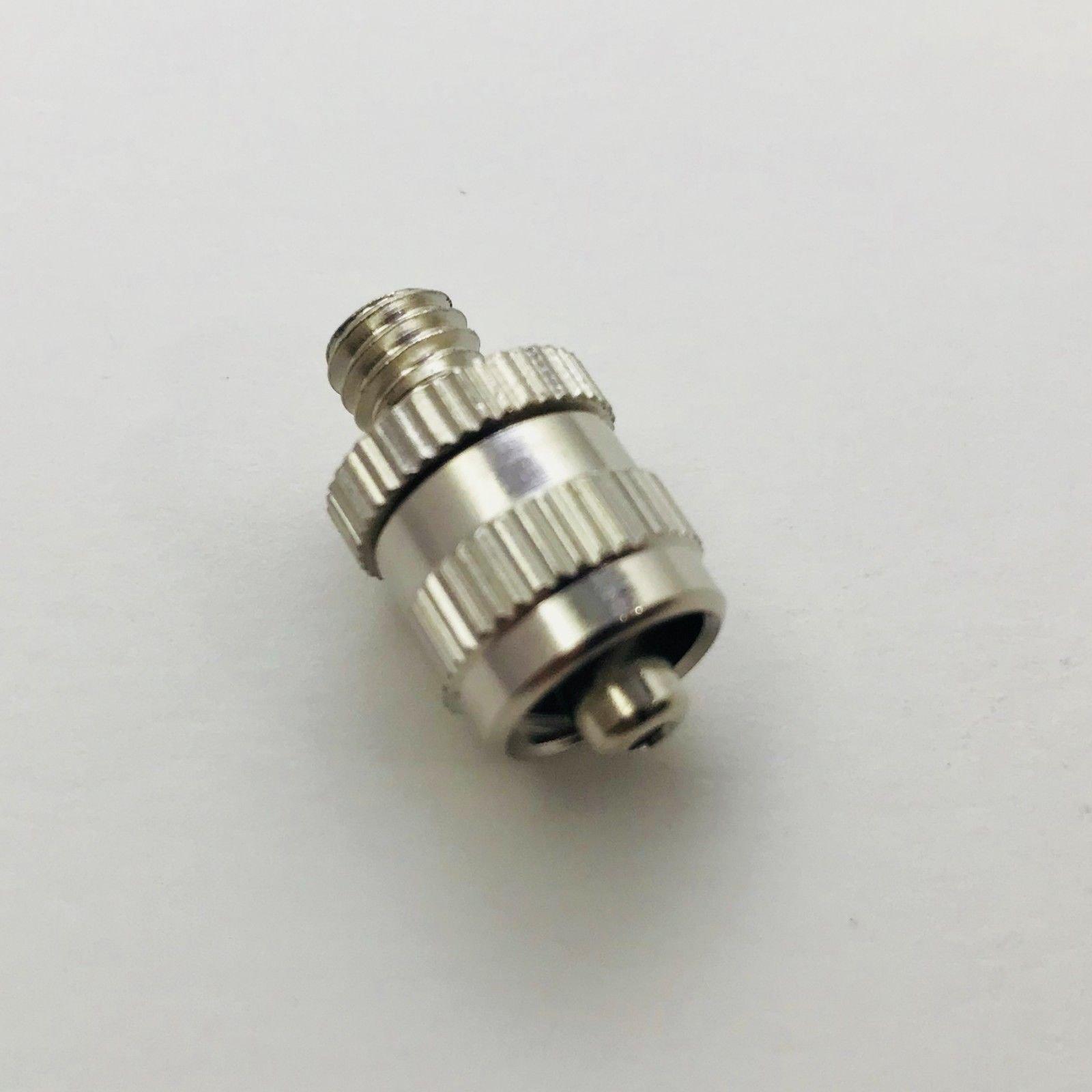 Metal Male Luer Lock Syringe Fitting to Metric M5 M5X0.75 Male (2 Units)