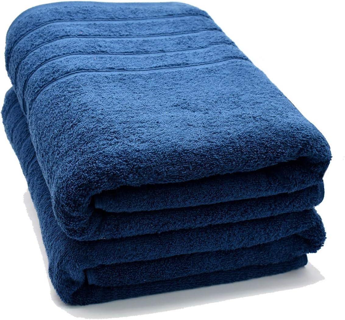 100% Cotton Bath Sheet Set of 2–Super Soft Bath Sheets 35x70–Blue Opal Bath Sheet Towel Set–Oversized Bath Towels–Quick Dry Bath Sheets–Super Absorbent Bath Sheets–Bath Sheets Spa Hotel Collection: Kitchen & Dining