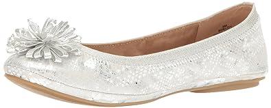 Bandolino Women's Eloy Ballet Flat, Silver, ...