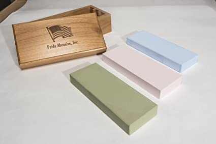 Pride Abrasives Set Of 1000 3000 8000 Waterstones With Flattening
