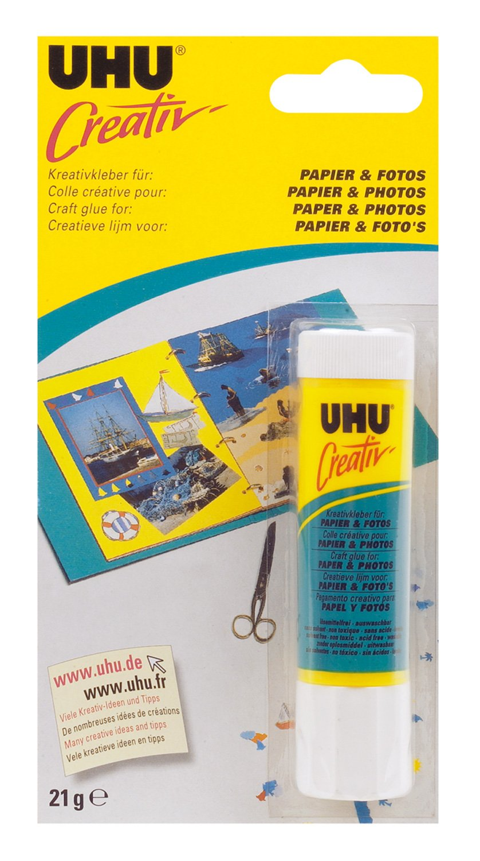 UHU - Bâ ton Colle cré ative pour papier et photos - 21 g 47175 B001ANXML0