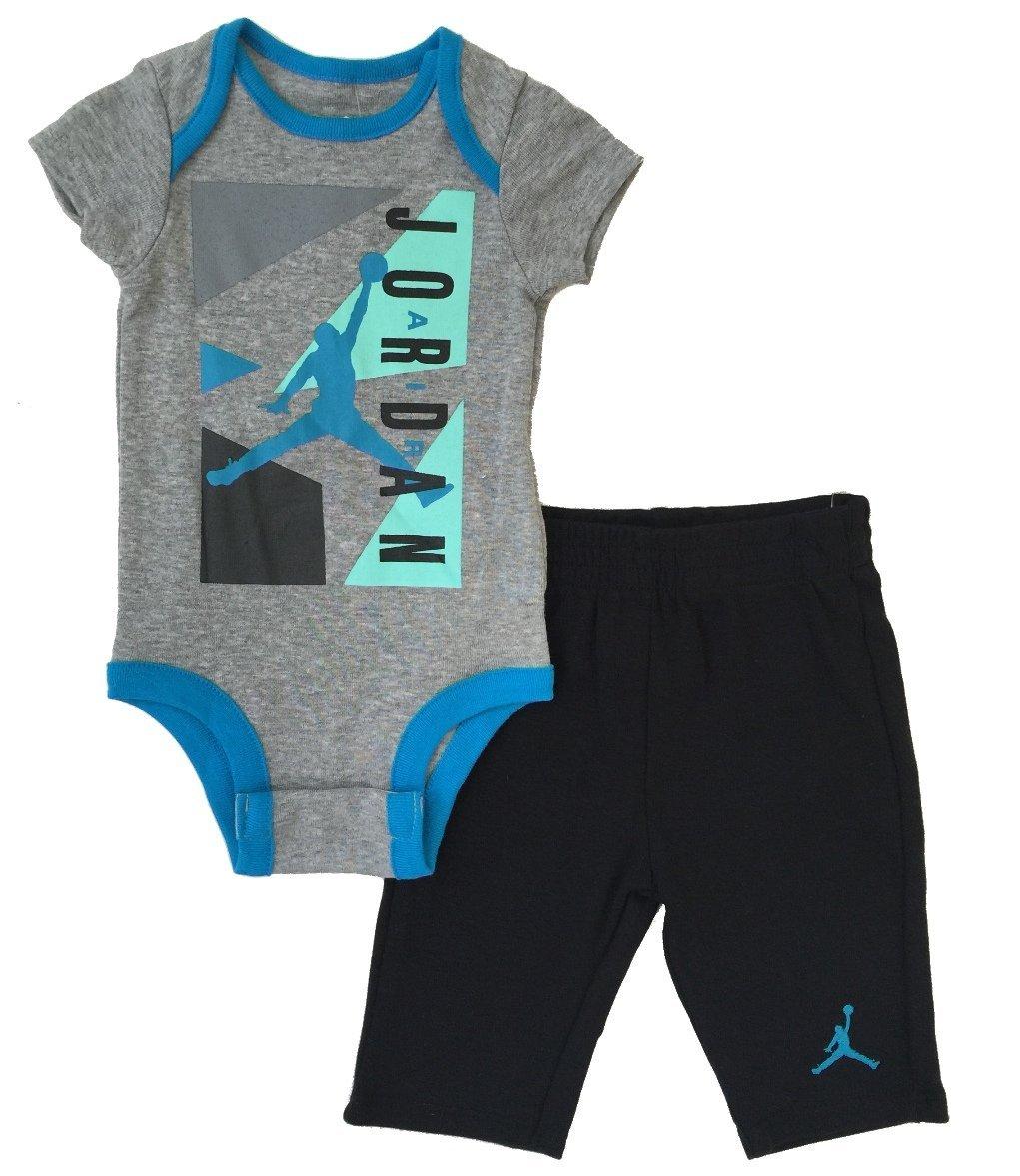 7135adb19348 Amazon.com: Nike Jordan Infants Bodysuit and Pants 2 Pcs Layette Set (6/9M):  Sports & Outdoors