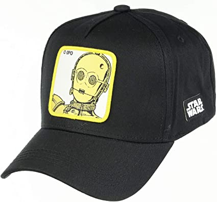 Collabs Gorra Star Wars C-3PO Negra Talla Unica: Amazon.es: Ropa y ...