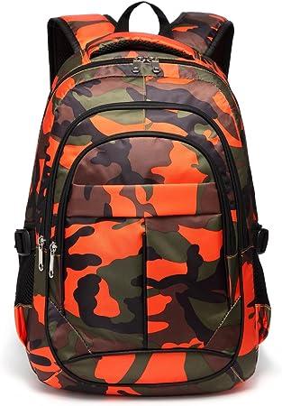Fashion Girls Boys Kids Backpack Bags Rucksack Zipper Travel Camouflage Pockets