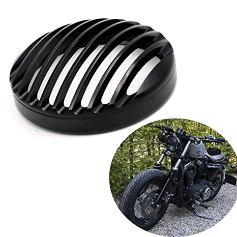 5 3 4quot Black Aluminum Headlight Grill Cover For Sportster Roadster XL1200R XL883 883