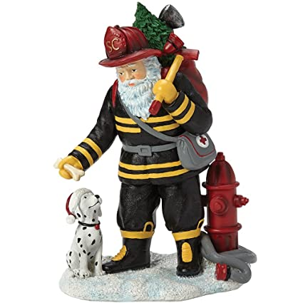 pipka christmas gifts firefighter santa resin figurine 7161202 120 character