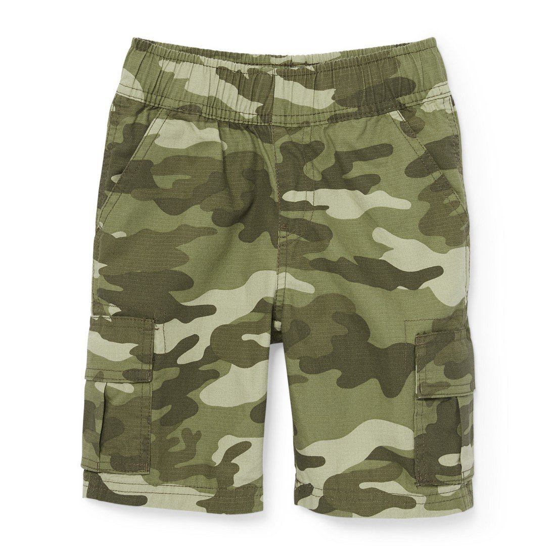 The Children's Place Big Boys' Pull on Cargo Short, Olive Camo 4137, 10