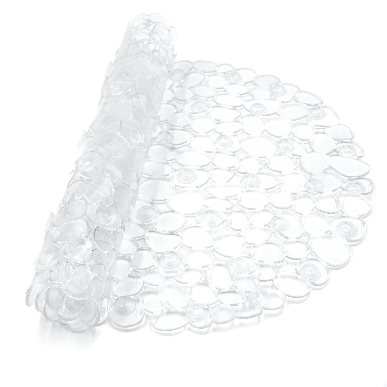 Large Non Slip Shower Mat BliGli Pebble Oval Anti Slip Suction Bathtub Mat