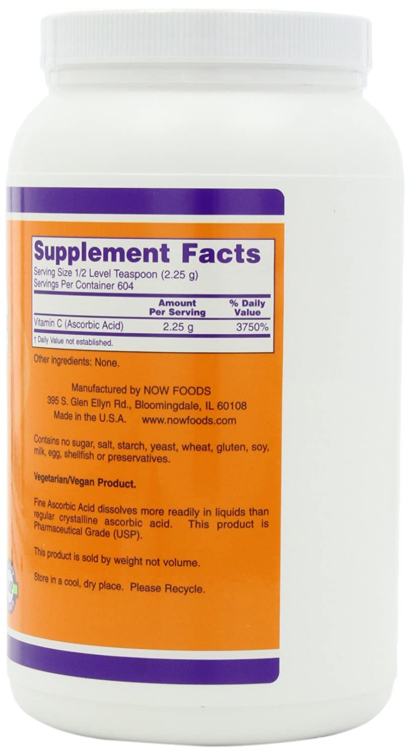 NOW Ascorbic Acid Powder 3 Pound Image 3
