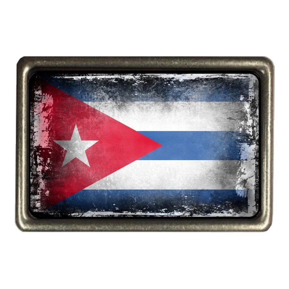 cadora fibbia della cintura fibbia Bandiera CUBA Shabby Chic Logoro Vecchio usato