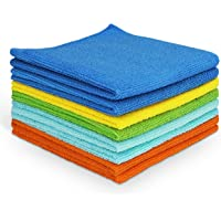 AIDEA Microfiber Cleaning Cloths Softer, More Absorbent, Lint-Free, Wash Cloth for Home, Kitchen, Car, Window (12in.x 12in.)—8PK