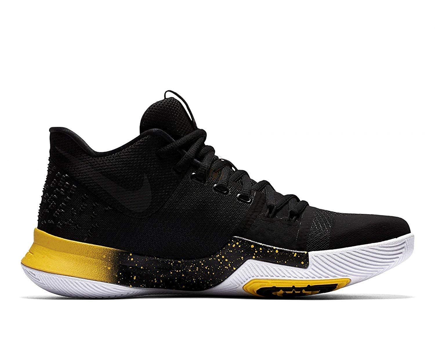 timeless design 49d35 348c5 NIKE Mens Kyrie 3 Basketball Sneakers New, Black Yellow 852395-901