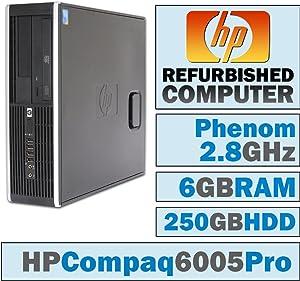 HP 6005 Pro SFF/Phenom II X3 B73 @ 2.80 GHz/6GB DDR3/250GB HDD/DVD-RW/Windows 7 PRO 64 BIT