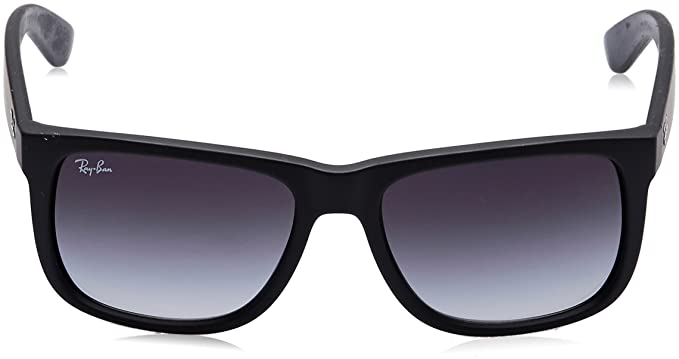 Amazon.com: Ray-Ban JUSTIN - RUBBER BLACK Frame GREY GRADIENT Lenses ...