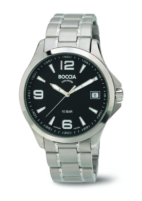 Boccia Herren-Armbanduhr Analog Quarz Titan 3591-02
