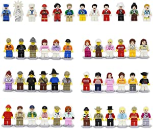 MALUNGMA Minifigures Set 48 Pcs Heroes People with Accessories, Mini Figures Building Bricks Blocks Action Figures Toy As Gift for Kids