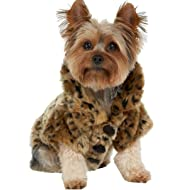 9cc2a5fef5b WISHLAND Dog Jacket Luxury Leopard Faux Fur Jacket Winter Clothes Pet Dogs  Coat for Autumn and