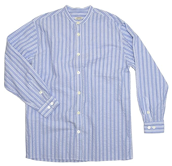 DressinGreatGatsbyClothesforMen Vintage Seersucker Shirt $102.35 AT vintagedancer.com