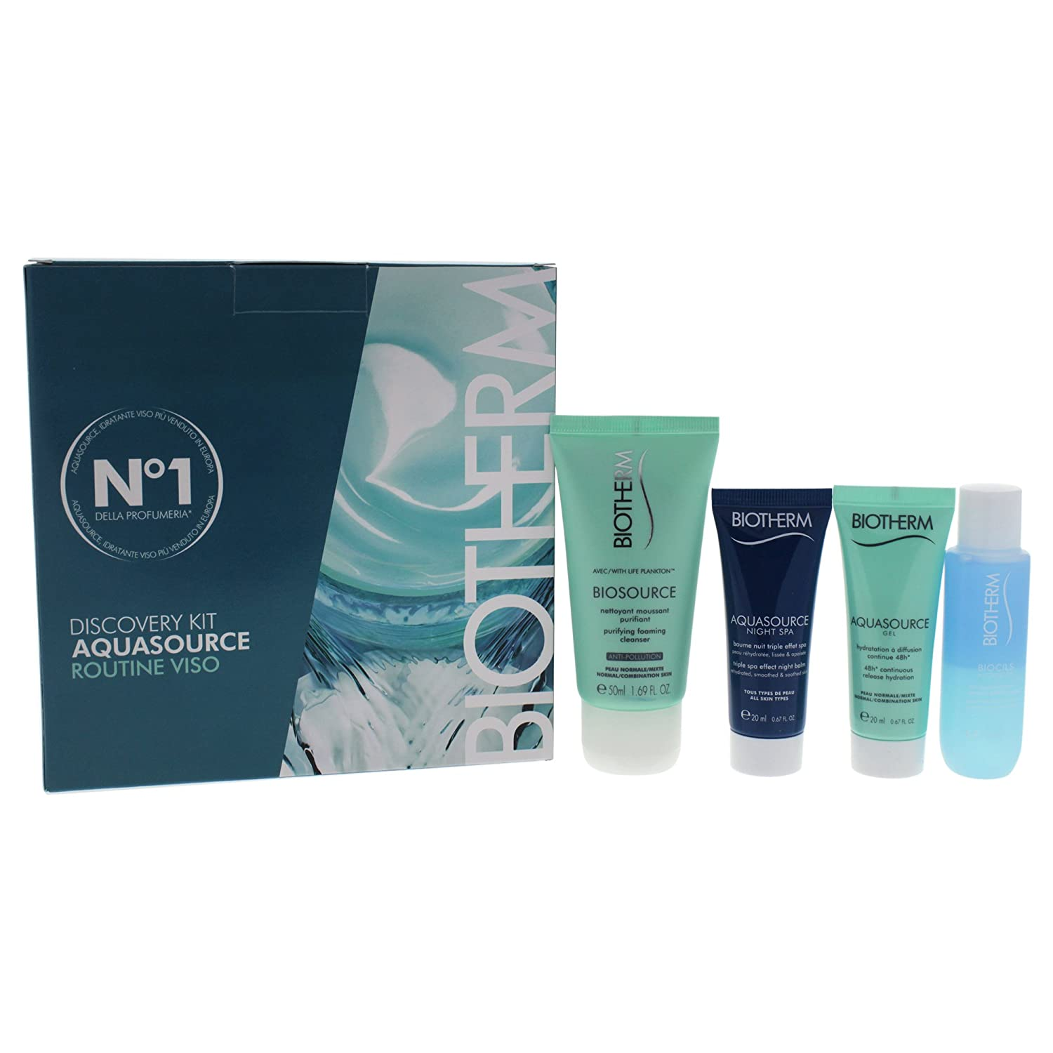 Biotherm 4 Piece Aqua Source for Women, Discovery Kit PerfumeWorldWide Inc. Drop Ship 8024417935283
