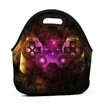 2ddfe2c8cbc4 Amazon.com: Ksipop Video Game Controller Art Reusable Lunch Bag ...