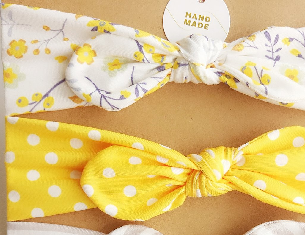 DANMY Baby Girl's Rabbit Ears Headband Cotton Cloth Elastic Hair Band Bow Boy Soft Turban (6pcs Bow(as Shown)) by DANMY (Image #4)