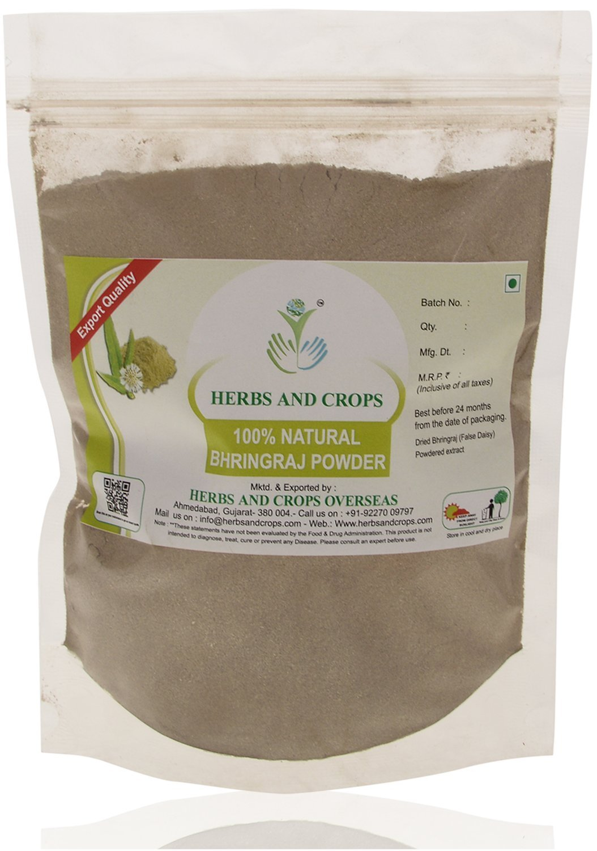 Herbs And Crops 100% Pure Natural Organically Grown Bhringraj Powder (227g / (1/2 lb) / 8 ounces)