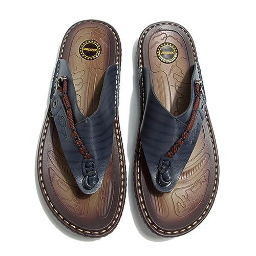 Gracosy Sandalias para Hombres,Unisexo Zapatillas Chanclas Cuero Verano Hombre: Amazon.es: Zapatos y complementos