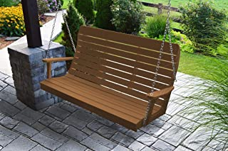 product image for Furniture Barn USA Outdoor 5 Foot Winston Porch Swing with Chain - Cedar Poly Lumber - Recycled Plastic