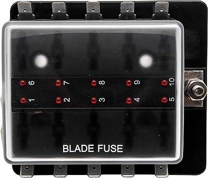 universal automotive fuse box amazon com car fuse box by maso 10 way universal standard 12v  car fuse box by maso 10 way universal