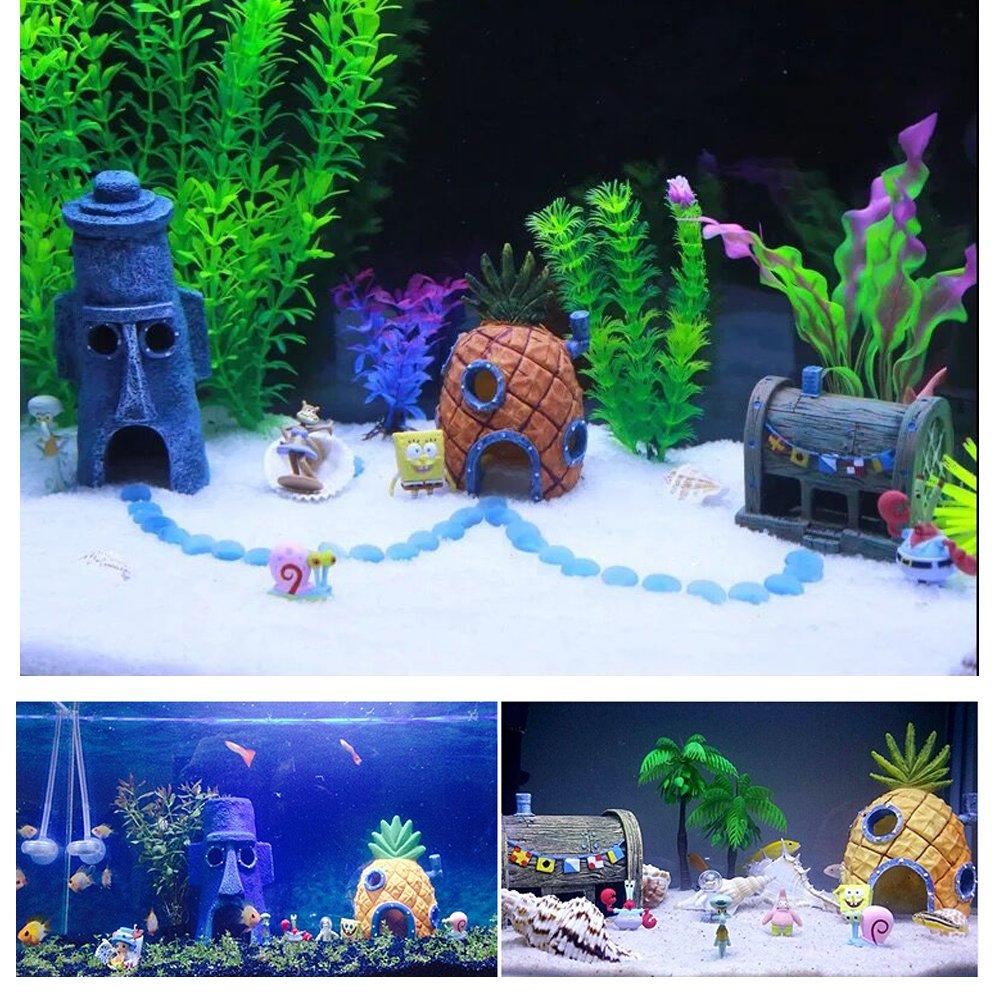 Adorno para acuarios de piña, decoración de acuarios, resina duradera y segura para todos los peces: Amazon.es: Productos para mascotas