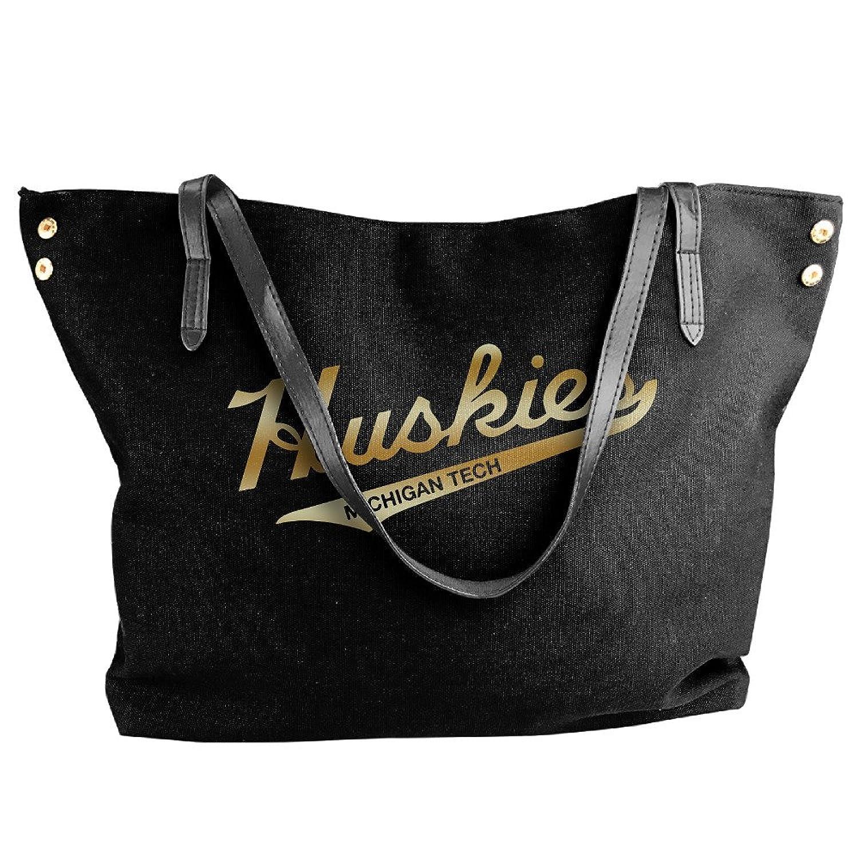 Michigan Tech Huskies Gold Logo Handbag Shoulder Bag For Women