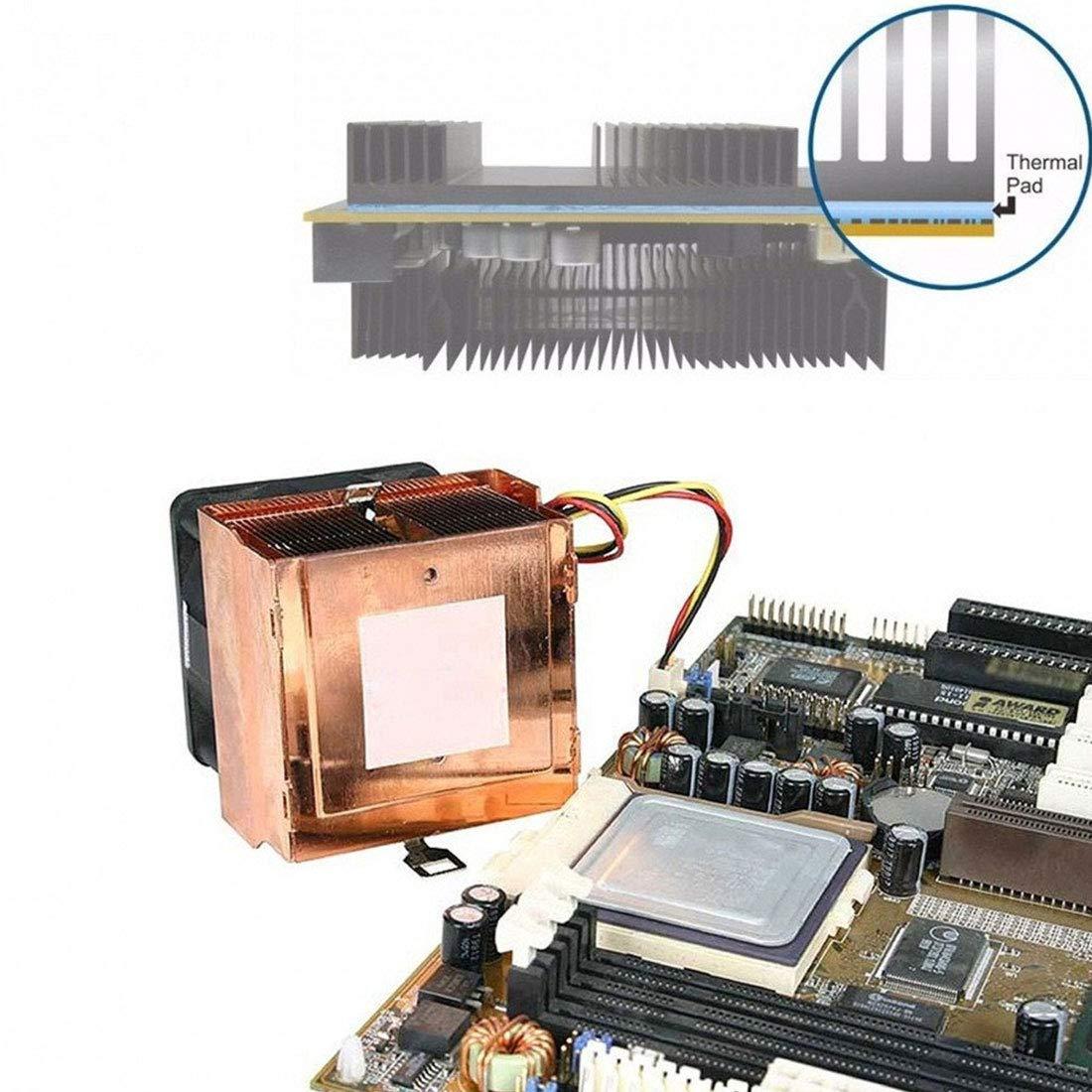 Fliyeong /GPU CPU K/ühlk/örper K/ühler Leitf/ähiges Silikon Pad 100mm 0,5mm W/ärmeleitpad Ersatzteile f/ür die K/ühlung von hoher Qualit/ät
