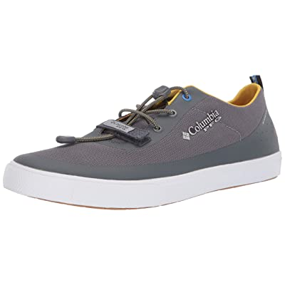 Columbia PFG Men's Dorado CVO PFG Boat Shoe, Ti Grey Steel, Electron Yellow, 10 | Water Shoes