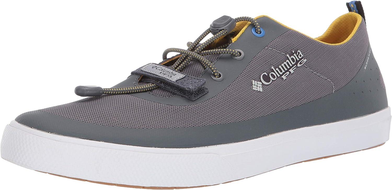 Columbia PFG Men's Dorado CVO PFG Boat Shoe, Ti Grey Steel, Electron Yellow, 9