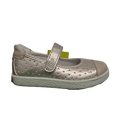 Primigi 1366911 Ballet Flats Shoes Platinum Girl in Leather