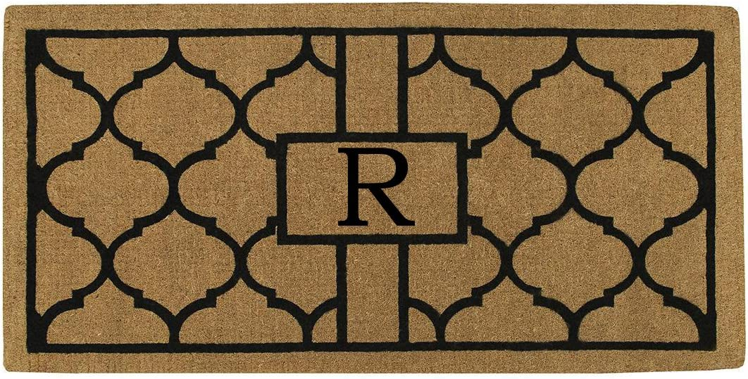 Home More 180083672R Pantera 3 X 6 Extra-Thick Monogrammed Doormat Letter R