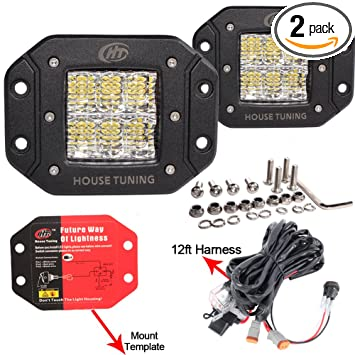 Amazoncom 30W 12V LED Flush mount Lights with Switch Wire