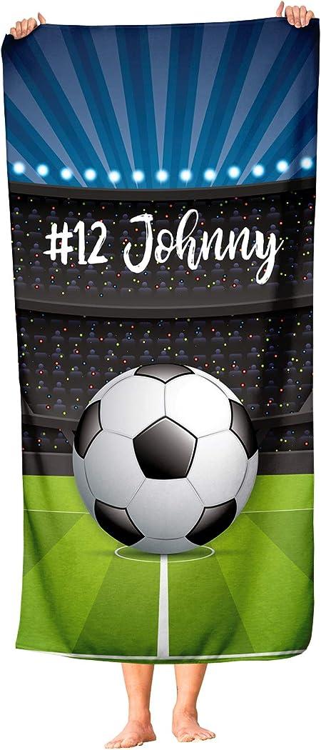 Toalla de fútbol Extragrande Personalizada para niños – Toalla de ...