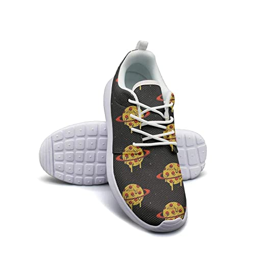 f2dc7ab2deeaf Amazon.com: Slice of Pizza Yellow Backdrop Casual Sneakers for Women ...