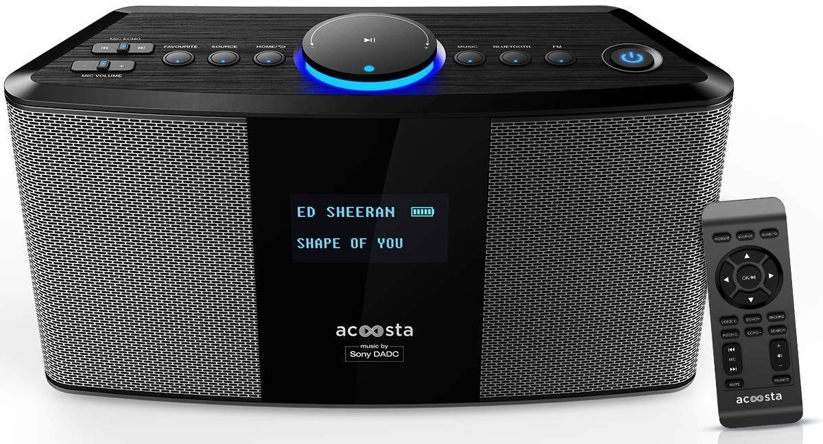 For 7900/-(39% Off) Acoosta Uno ABT-2000PKW/21 High Fidelity Bluetooth Speaker with Built in Music by Sony DADC (Space Grey) at Amazon India