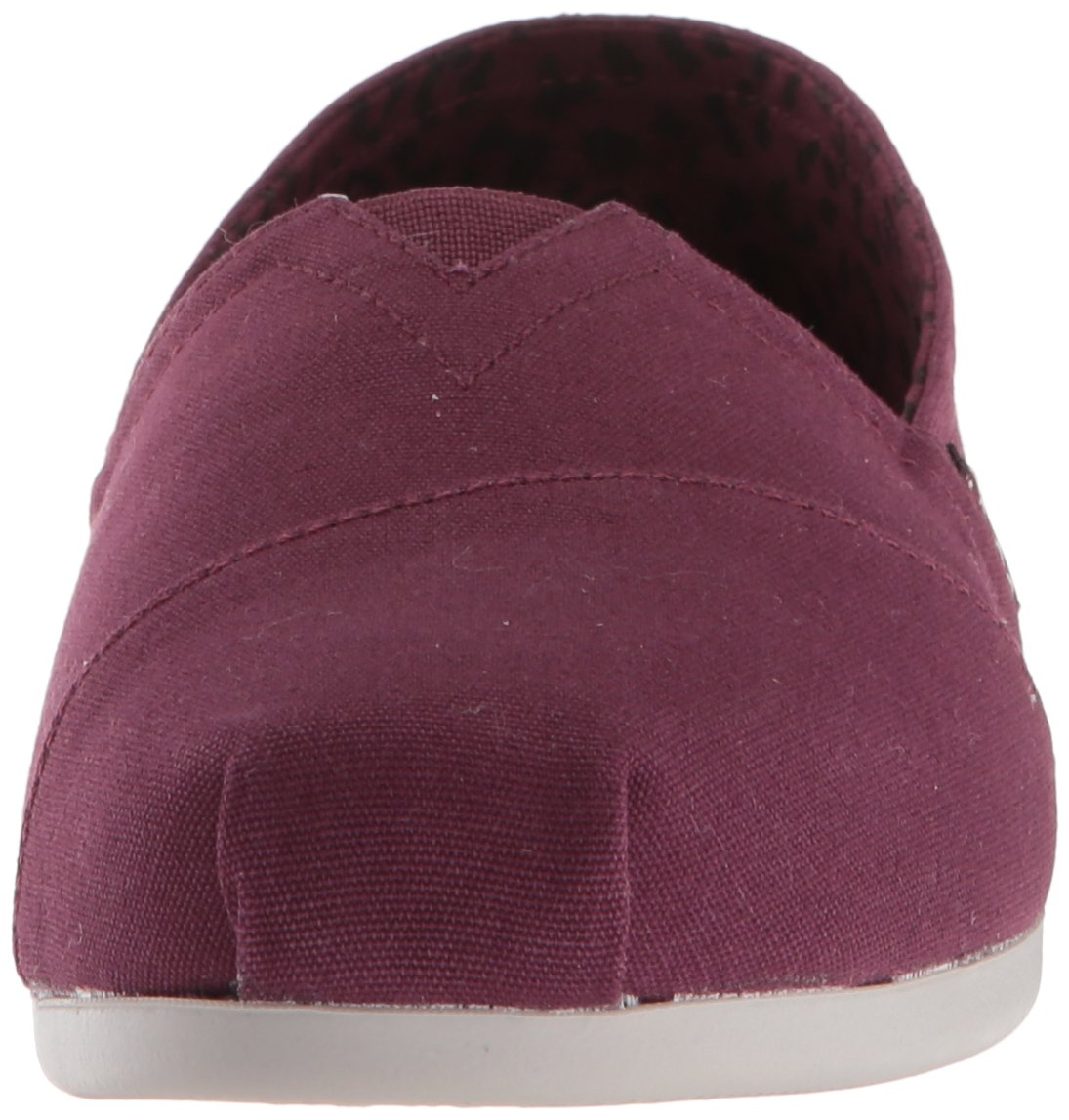 Skechers BOBS Women's Plush-Peace and Love Ballet Flat, Burgundy, 8 M US by Skechers (Image #4)