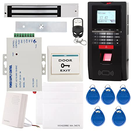 UHPPOTE Completo Kit Biométrico Huella Digital Dactilar & EM-ID Sistema De Control Acceso TCP / IP Tiempo Asistencia Incluye 280KG 600Lbs Cerradura ...