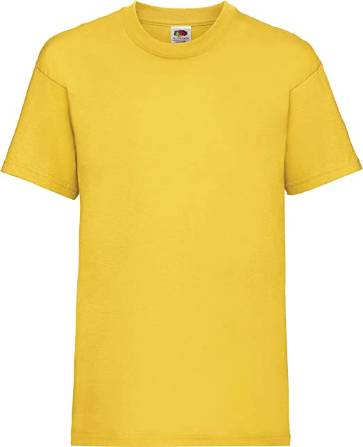 Plain Red Fruit of the Loom 100/% Cotton Childrens Kids Boys Girls T Shirt Tee